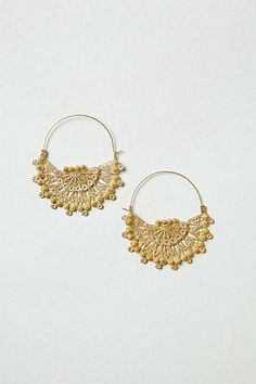 Gold-Dipped Filigree Hoops--Great idea may try this someday. Jewelry Crafts, Jewelry Box, Jewelery, Jewelry Making, Family Jewels, Textile Jewelry, Gold Dipped, Diamond Are A Girls Best Friend, Textiles