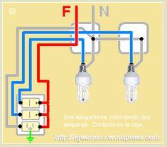 Resultado de imagen para como hacer una instalacion electrica basica Electrical Panel Wiring, Electrical Circuit Diagram, Electrical Plan, Electrical Installation, Electrical Components, Electrical Engineering Books, Electrical Projects, Electronics Projects, 3 Way Switch Wiring