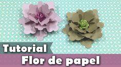 Como fazer flores de papel   Tutorial   PAP