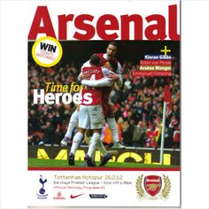 Arsenal v Tottenham Hotspur 26/02/2012 Premier League Football Programme (06553)