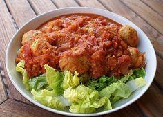 Morrocan fish balls in tomato sauce