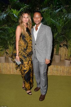 Date night: Chrissy Teigen and John Legend dressed to the nines for the glam event, with C...