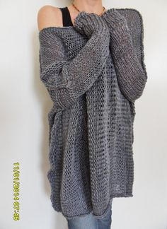 Oversize Women cotton chunky knit sweater by RoseUniqueStyle