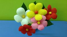 How to Make Crepe Paper Flowers - Flower Making of Crepe Paper - Paper F...