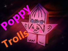 How to make a paper Poppy from Trolls Movie step by step Cute and Easy