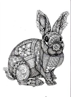 Rabbit bunny coloring book