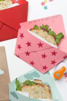 Handmade Origami Sandwich Pocket Tutorial - Lunch Ideas