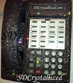 Swarovski Crystal Office Phone.  www.SDCrystallized.com