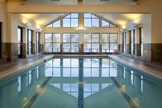 The indoor pool at Teton Mountain Lodge is one of the many perks of visiting the Solitude Spa. Right in the heart of Teton Village