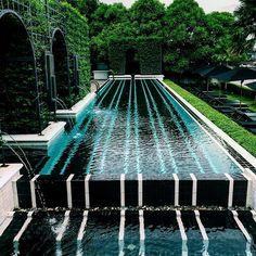 This is how Im designing my next pool #interior #interiordesign #pool #pooldesign #design #project #hospitality #hospitalitydesign #petraviktoriadesign by petraviktoriadesign Creative backyard pool designs.