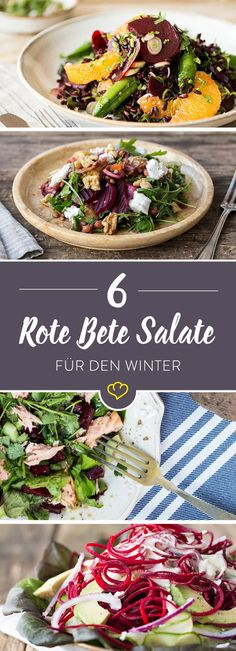 Star der Salat-Kreationen ist ganz klar die Rote Bete. Wie gut die kleine Knolle als Salat schmeckt, beweisen diese 6 Rezepte.                                                                                                                                                                                 Mehr