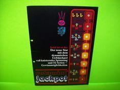 NSM ROTAMINT JACKPOT Original Slot Machine Foldout Promo Sales Flyer German Text #NSM