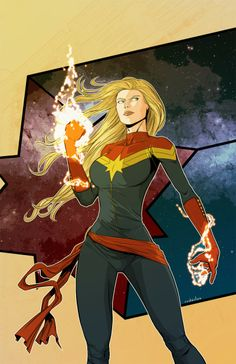 "thehappysorceress: "" Captain Marvel - Carol Danvers by Salvador Velázquez "" She's gonna be so cool in her movie! So nice to finally get a kick-ass female lead in Marvel. Marvel Dc Comics, Ms Marvel Captain Marvel, Miss Marvel, Captain Marvel Carol Danvers, Marvel Art, Marvel Heroes, Batwoman, Nightwing, Batgirl"