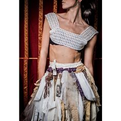 Tribal Wedding Wrap Skirt Fairy Belt Bustle Steampunk ($135) ❤ liked on Polyvore featuring grey, skirts и women's clothing