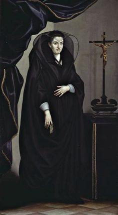 Portrait of a Noblewoman Dressed in Mourning, Jacopo da Empoli, c.1600