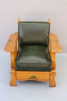 Monterey Style Armchair and Ottoman image Cheap Chairs, Cool Chairs, Furniture Styles, Cool Furniture, Furniture Ideas, Outdoor Furniture, Toddler Lounge Chair, Maple Furniture, Antique Furniture