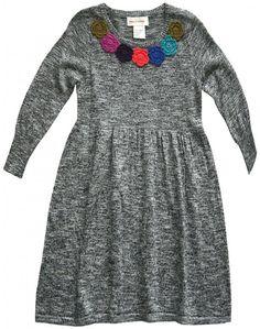 Mimi & Maggie Crochet Flower Knit Dress