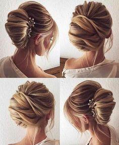 Adoro esses penteados presos de um jeito mais leve!!! via @projetonoivaemadrinha