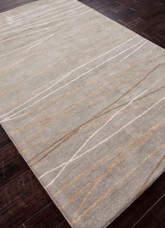 This hand-tufted Oslo area rug from Jaipur's Baroque Collection features a minimalist--yet electrifying--linear pattern in a neutral color palette, allowing endless modern decor options. Oslo, Jaipur Rugs, Clearance Rugs, Home Trends, Rugs On Carpet, Wool Carpet, Carpets, Grey Carpet, Floor Rugs