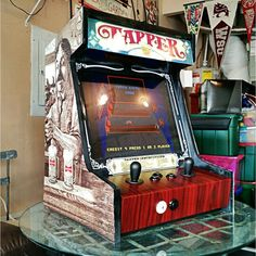 Built my own Bartop Arcade. Designed it after the old Budweiser Tapper Game. It runs on a Raspberry Pi.