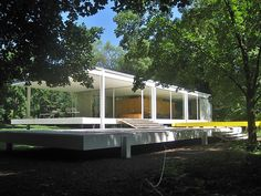 The one and only residential house built by Mies van der Rohe in the US is a true masterpiece. Better to book in advance.
