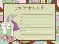 Match the Parenthood theme with these baby shower postcard-style invitations. Easy fill-in cards come in quantities of 25 per package, with envelopes.