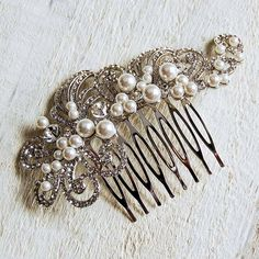 large pearl filigree hair comb by highland angel | notonthehighstreet.com