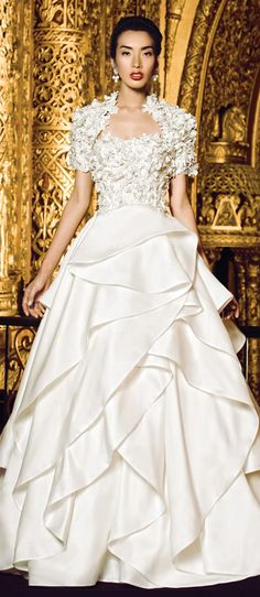 Bridal Gown with Draping Ruffles