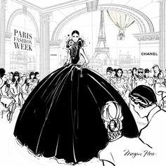 Megan Hess Illustration - Paris Fashion Week.