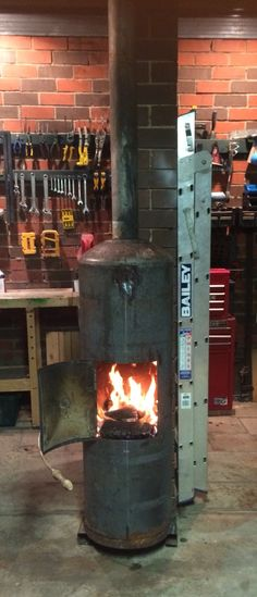 Hot water cylinder potbelly fire. Fire, Building, Hot, Water, Outdoor Decor, Projects, Ideas, Design, Home Decor