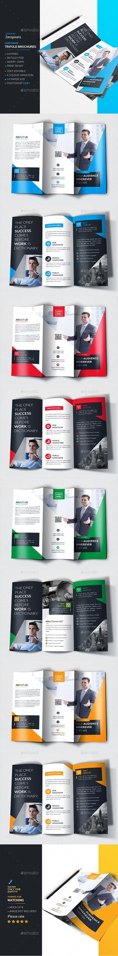 Fitness Trifold Brochure Bundle Template, Brochures and Fitness - fitness brochure