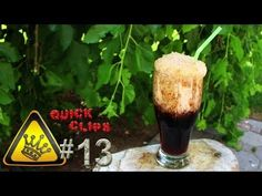 """A supercooled soda is transformed to a slushy in around 3 seconds.    """"Quick Clips"""" are clips of random experiments in a minute or less.    For other project videos, check out http://www.thekingofrandom.com"""