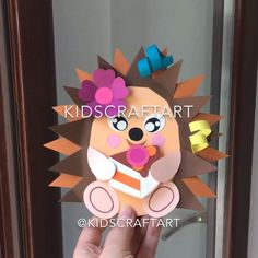 Summer Crafts For Toddlers, Halloween Crafts For Toddlers, Animal Crafts For Kids, Paper Crafts For Kids, Diy Arts And Crafts, Toddler Crafts, Preschool Crafts, Fall Crafts, Art For Kids