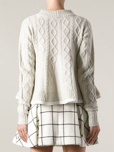 Sacai Cable Knit Sweater