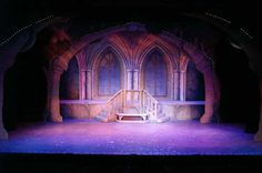 Beauty and the Beast : Production Photo - idea for levels and backdrop moving away from the conventional rectangles