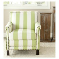 Striped Arm Chair.
