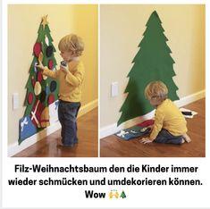 Diy Felt Christmas Tree, Christmas Trees For Kids, Christmas Crafts For Toddlers, Xmas Crafts, Toddler Crafts, Christmas Projects, Christmas Holidays, Xmas Tree, Christmas Toddler Activities
