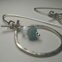 Silver, aquamarine and moonstone by Silvessence on Folksy