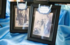 Parents and grandparents. would be cute to have guests rsvp with pic of their wedding and display them at wedding