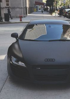 I have this weird obsession with MATTE BLACK :0 I love this car ---- matte black Audi