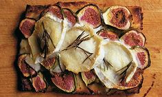 Fig and goat's cheese focaccia.