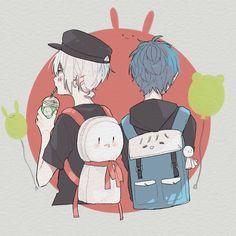 After the Rain Anime Chibi, Kawaii Anime, Manga Anime, Anime Art, Cute Anime Boy, Anime Love, Anime Guys, Vocaloid, Cool Animes