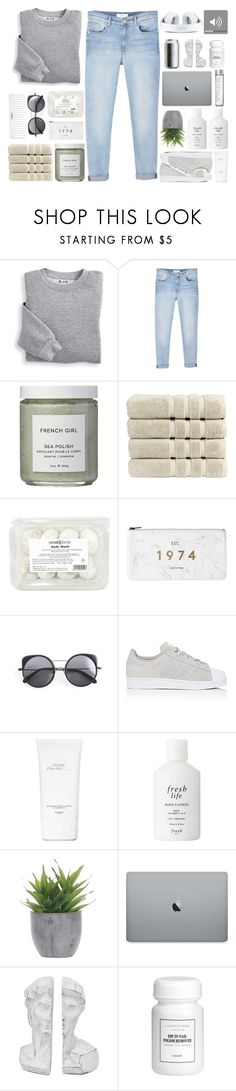 """""""g r a y"""" by sofhiree20 ❤ liked on Polyvore featuring Blair, MANGO, French Girl, Christy, Wood Wood, Conair, adidas, Hermès, Fresh and Lux-Art Silks"""