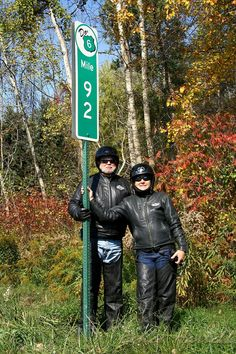IMG#5646 Jim and Geri at Mile Marker #92-Highway Route 6 Somewehere between Youngsville and Warren county, Pennsylvania October 10, 2010.