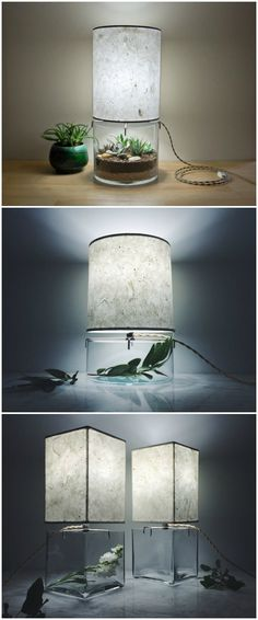 Handmade Terrarium Paper Table Lamp - table-lamps