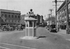 Our Flashback Friday Photo is from April 1924 and shows Cranford Police Officer John McNerney in the township's new traffic box at the intersection of North Avenue and North Union Avenue. The stop-go sign was manually operated by an officer from inside the box. This replaced the earlier signal which officers operated form under an umbrella.
