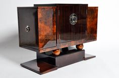 View this item and discover similar for sale at - This elegant newly made Art Deco style bar cabinet is from Hungary and made from walnut veneer. Art Deco Furniture, Plywood Furniture, Unique Furniture, Rustic Furniture, Furniture Design, Furniture Storage, Furniture Buyers, Streamline Art, Furniture Disposal