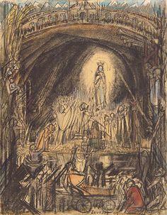 Jan Toorop De grot van Lourdes 1919