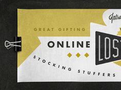 Dribbble - Lost Type slider design by Aaron Scamihorn | RONLEWHORN