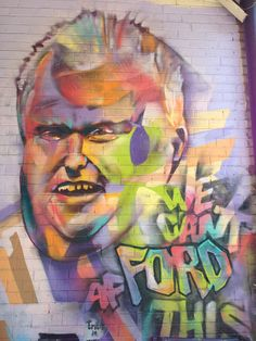 We Can't AfFord This. Rob Ford Mural. Street Art outside Kensington market in Toronto, ON